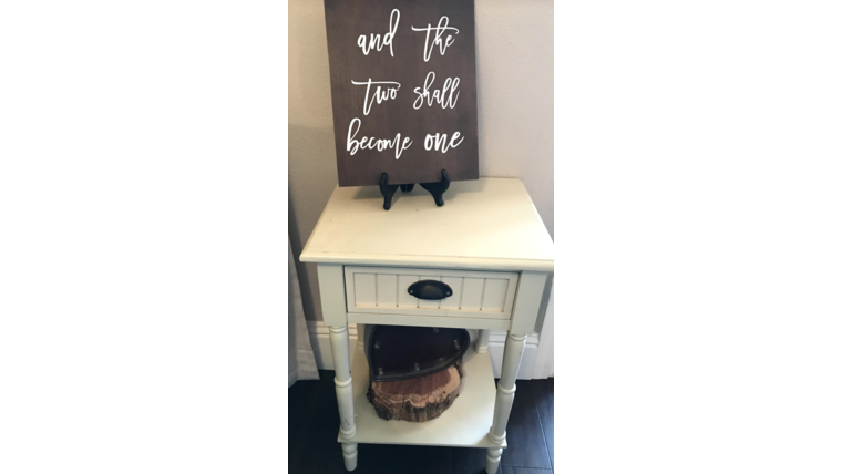 Picture of a Furniture - Small Antique White End Table
