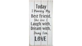 Image of a Marry My Best Friend Sign
