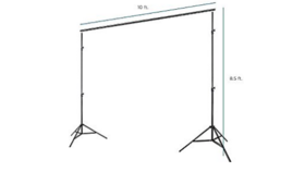 Image of a Photobooth Backdrop Support