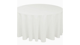 "Image of a 120"" White Tablecloth"