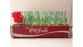 Image of a Vintage Case of Glass Coke Bottle Ring Toss
