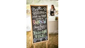 Image of a Large Freestanding Chalkboard
