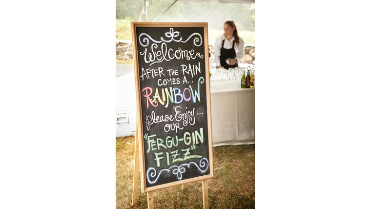 Picture of a Large Freestanding Chalkboard