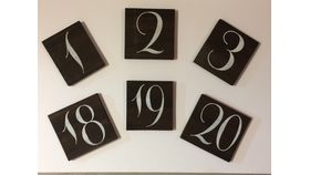 Image of a Wooden Table Numbers