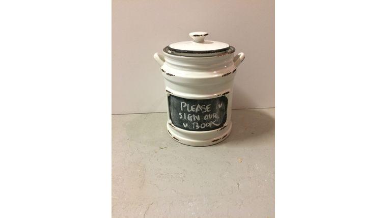 Picture of a Mini White Jar
