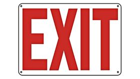 Image of a Plastic EXIT Sign