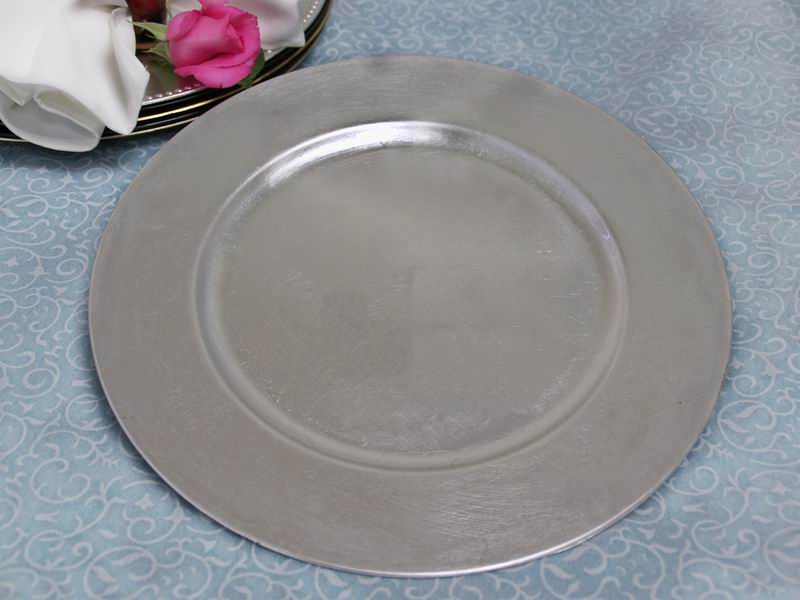 Picture of a 13\  Flat Silver Charger Plate & 13\