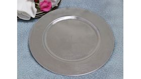 "Image of a 13"" Flat Silver Charger Plate"