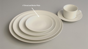 "Image of a 6"" Classic White Bread and Butter Plate"