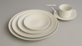 "Image of a 6"" Classic White Saucer Plate"