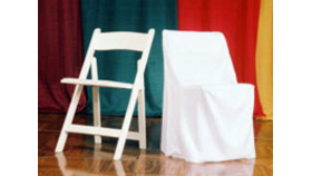 Image of a Black / White / Ivory Chair Cover - Square Top