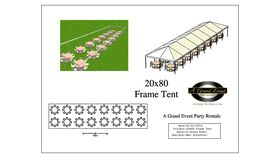 Image of a 20' x 80' Frame Tent