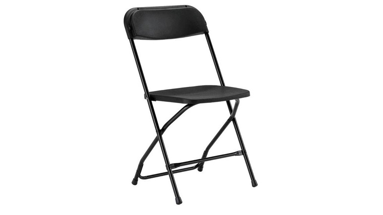 Image of a Basic Black Folding Chair