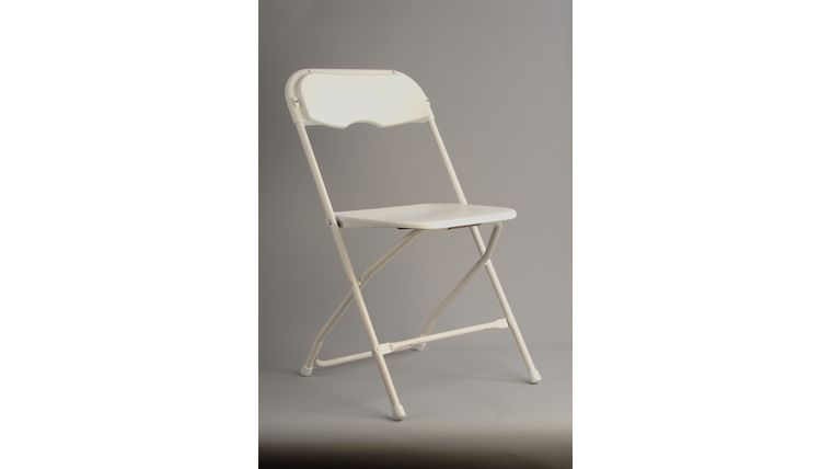 Image of a Basic White Folding Chair
