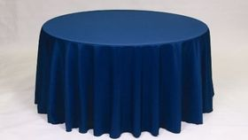 "Image of a Polyester - Navy Blue Tablecloths (90"" x 156"")"