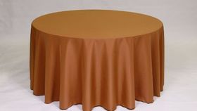"Image of a Polyester - Copper Tablecloths (54"" Square)"