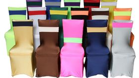 """Image of a Spandex - Gold Chair Covers (36"""" H x 20"""" W x 20"""" L)"""