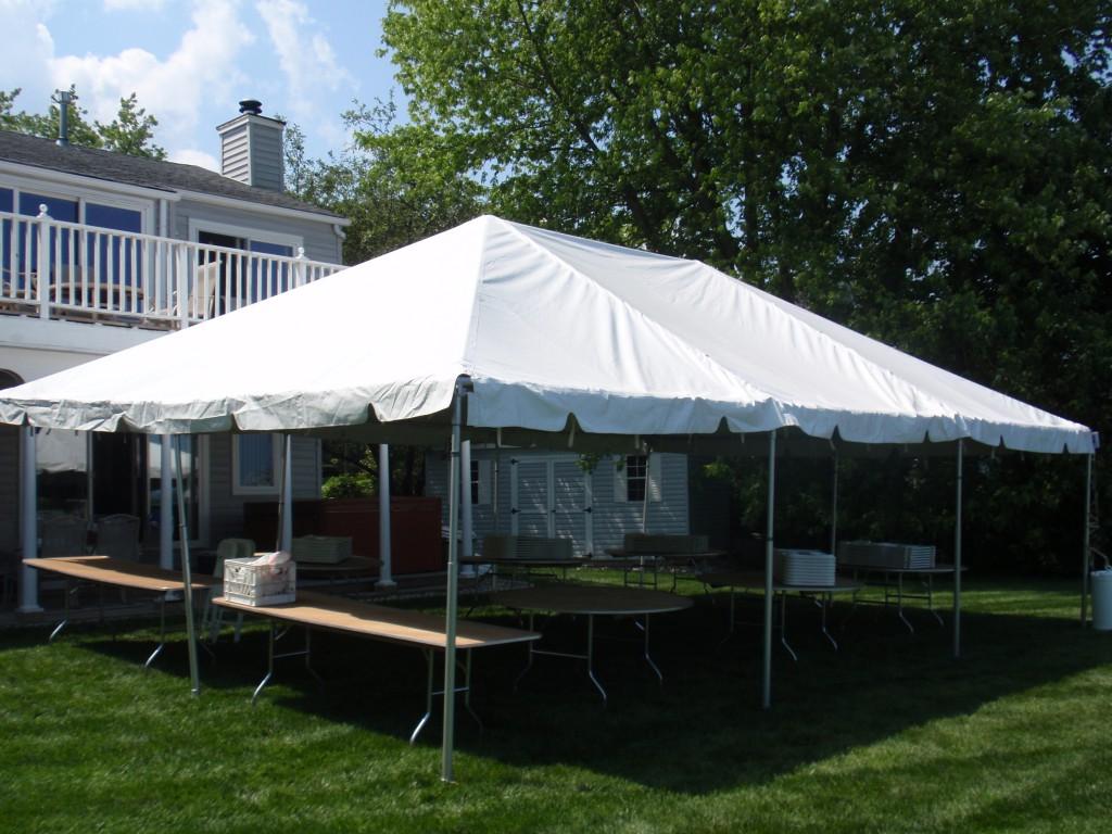 20\' x 30\' Frame Tent rentals online - $550/day
