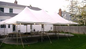 Image of a 20' x 40' Pole Tent