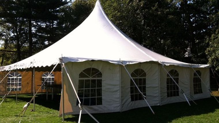 Picture of a 40' x 40' Pole Tent