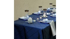 "Image of a Pintuck - Navy Blue Tablecloths (120"" Round)"