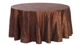 """Image of a Pintuck - Chocolate Tablecloths (60"""" x 120"""")"""