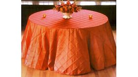 """Image of a Pintuck - Fire Orange Tablecloths (90"""" x 132"""")"""
