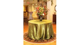 "Image of a Dolce Crush - Moss Tablecloths (90"" x 156"")"