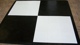 Image of a Black and White Checkered Dance Floor 3' x 3'