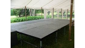 "Image of a 4'x4' Staging (8"", 16"" or 20"" - 30"" Heights available)"