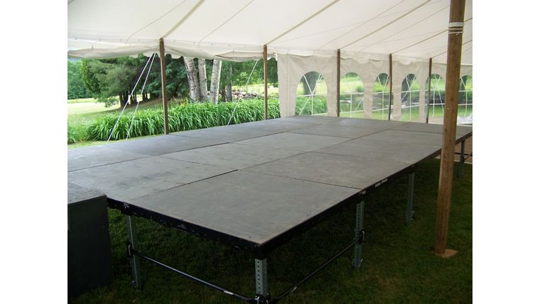 "Picture of a 4'x4' Staging (8"", 16"" or 20"" - 30"" Heights available)"