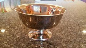 "Image of a 10"" Silver Pedestal Bowl"