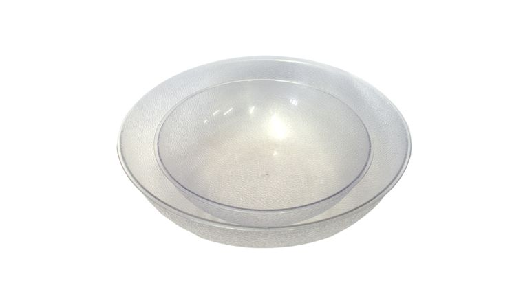 "Picture of a 12"" Plastic Pebble Bowl"