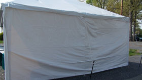 Image of a 8' x 20' Solid White Sidewall