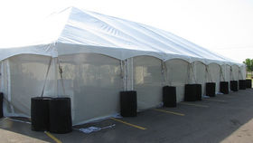 Image of a 8' x 20' Mesh Sidewall