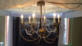 Image of a Brass Tent Chandelier