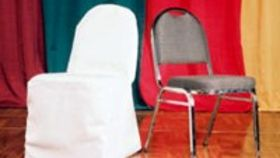 Image of a White Chair Cover - Round Top
