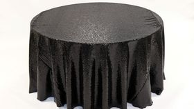"Image of a Sequins - Black Tablecloths (90"" Square)"