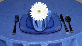 "Image of a Bengaline - Royal Blue Tablecloths (90"" Square)"