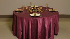 "Image of a Bengaline - Burgundy Tablecloths (108"" Round)"