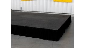 Image of a Black Stage Carpet (by the sq ft)