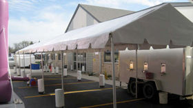 Image of a 15' x 65' Frame Type Tent