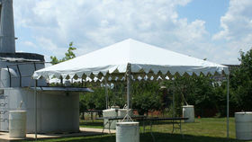 Image of a 15' x 45' Frame-Type Tent