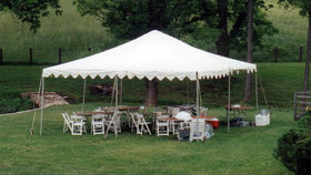 Image of a 20' x 20' Frame-Type Tent