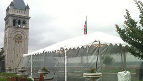Image of a 20' x 80' Frame-Type Tent