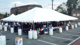 Image of a 40' x 80' Frame-Type Tent