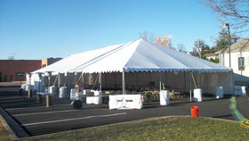 Image of a 40' x 100' Push Pole-Type Tent