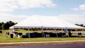 Image of a 40' x 60' Push Pole-Type Tent