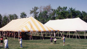 Image of a 40' x 80' Push Pole-Type Tent