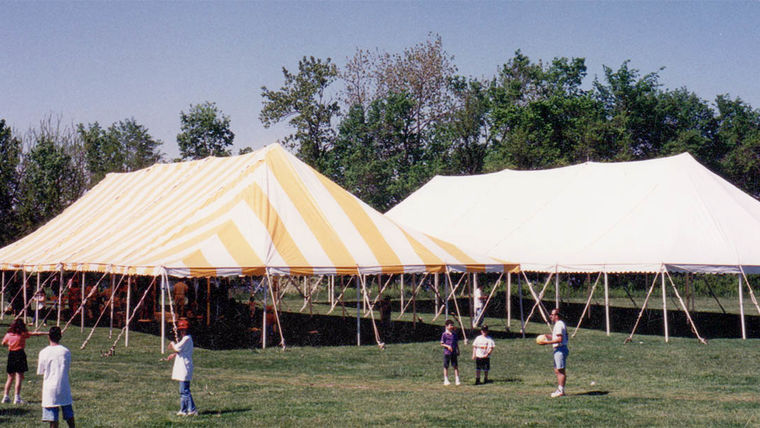 Picture of a 40' x 80' Push Pole-Type Tent